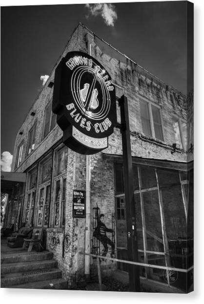 Clarksdale - Ground Zero Blues Club 001 Bw Canvas Print