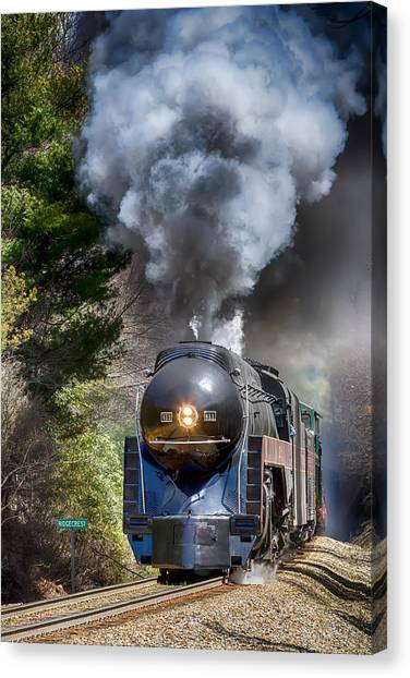 Class J 611 Steam Engine At Ridgecrest Canvas Print