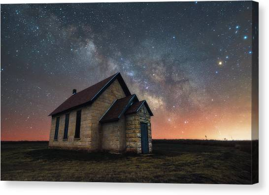 Abandoned School Canvas Print - Class Of 1886 by Darren White