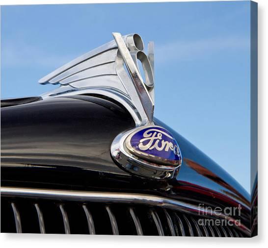 Classic 1935 Ford Hood Ornament Canvas Print