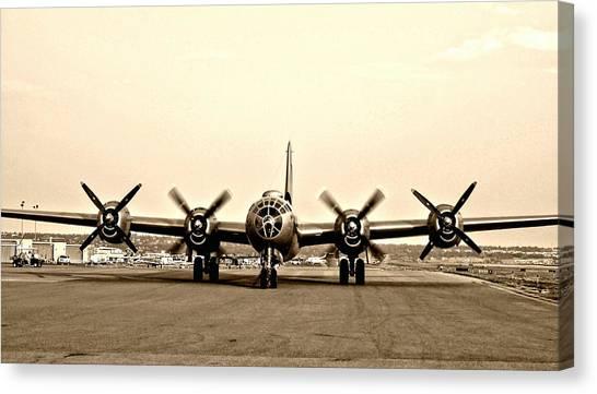 Classic B-29 Bomber Aircraft Canvas Print