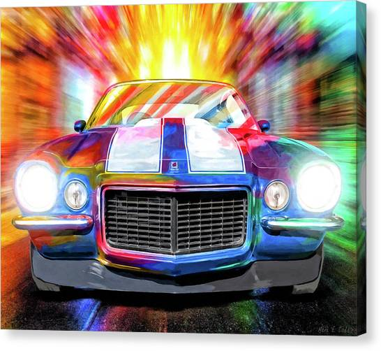 1972 Canvas Print - Classic Camaro Nights by Mark Tisdale