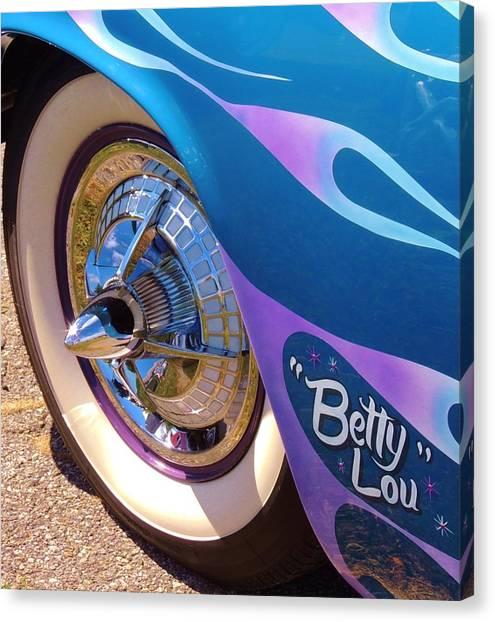 Classic Car Betty Lou Canvas Print
