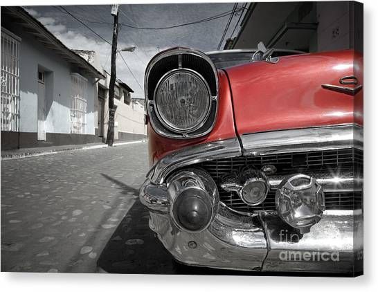 Street Rods Canvas Print - Classic Car - Trinidad - Cuba by Rod McLean