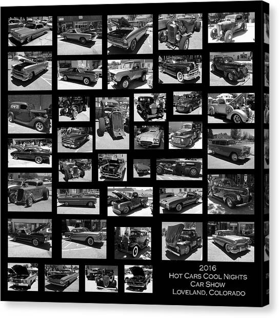 Canvas Print featuring the photograph Classic Cars And Trucks by Angie Tirado