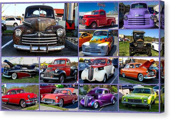 Canvas Print featuring the photograph Classic Cars by Robert L Jackson