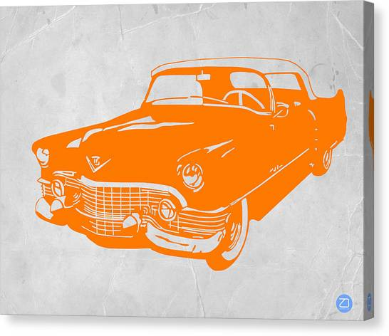 Beetle Canvas Print - Classic Chevy by Naxart Studio
