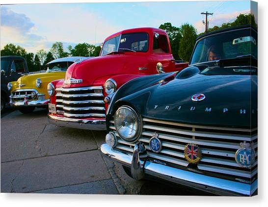 Classic Chrome Bumpers Canvas Print