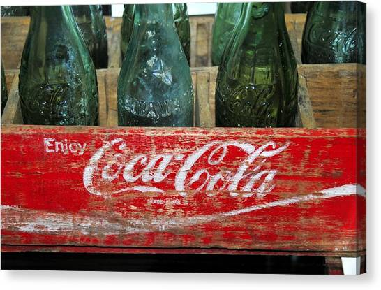 Coca Cola Canvas Print - Classic Coke by David Lee Thompson