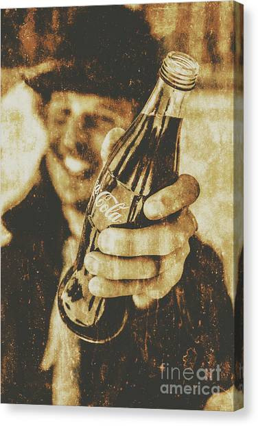 Bistros Canvas Print - Classic Cola Club by Jorgo Photography - Wall Art Gallery