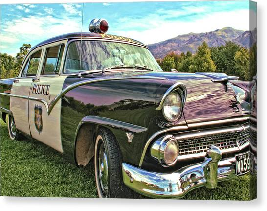 Classic Cop Car Canvas Print
