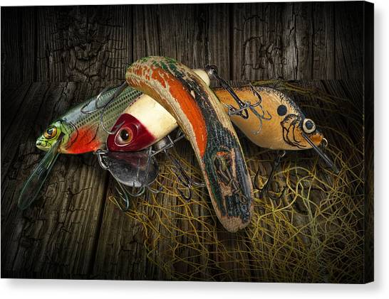 Angler Art Canvas Print - Classic Crankbaits by Randall Nyhof