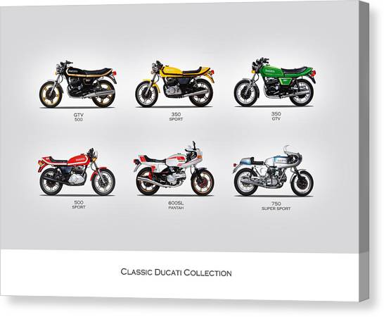 Ducati Canvas Print - Classic Ducati Collection by Mark Rogan