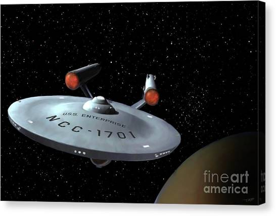 Spock Canvas Print - Classic Enterprise by Paul Tagliamonte
