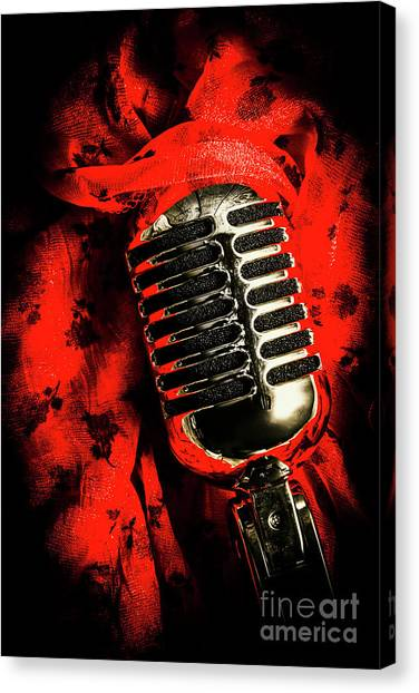 Microphones Canvas Print - Classic Evening Cabaret  by Jorgo Photography - Wall Art Gallery