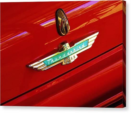 Classic Ford Thunderbird Emblem Canvas Print
