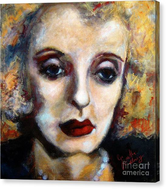 Classic Hollywood Movie Stars Bette Davis Canvas Print