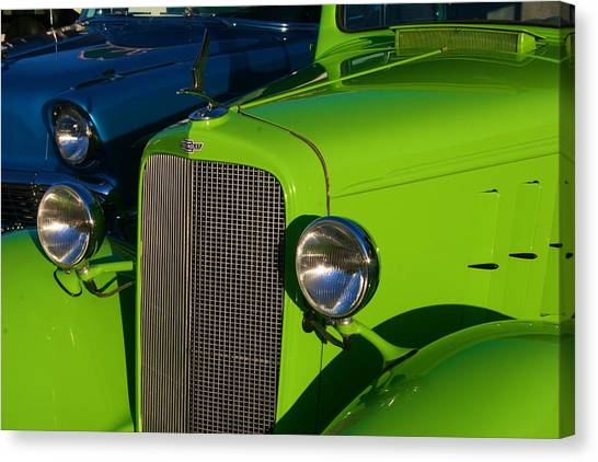 Classic Lime Green Car Canvas Print