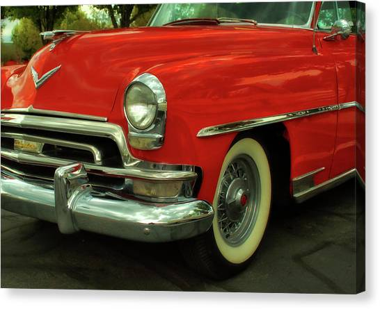Classic Red Chrysler Canvas Print