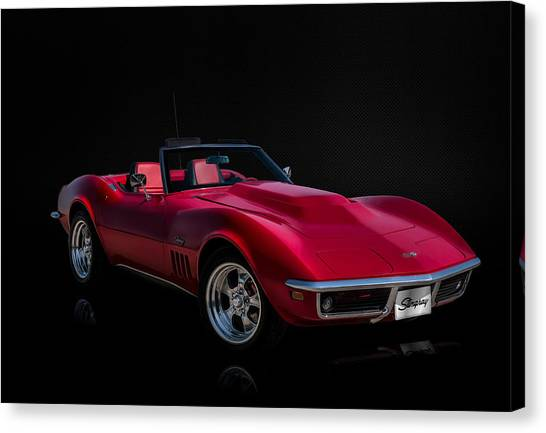 Chevy Canvas Print - Classic Red Corvette by Douglas Pittman