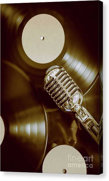 Microphones Canvas Print - Classic Rock N Roll by Jorgo Photography - Wall Art Gallery