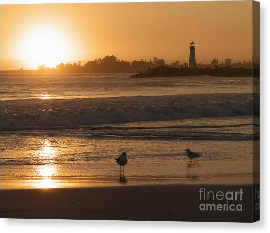 Classic Santa Cruz Sunset Canvas Print