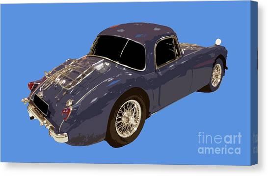Classic Sports Blue Rear Canvas Print