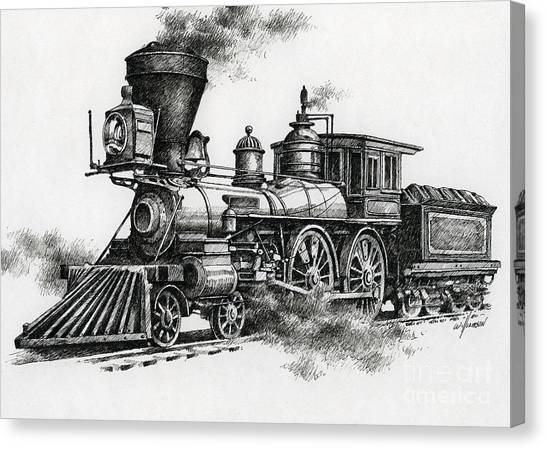 Trains Canvas Print - Classic Steam by James Williamson