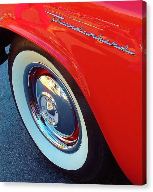 Classic T-bird Tire Canvas Print