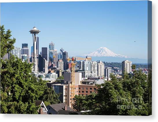 Classic View Of Seattle, Usa Canvas Print