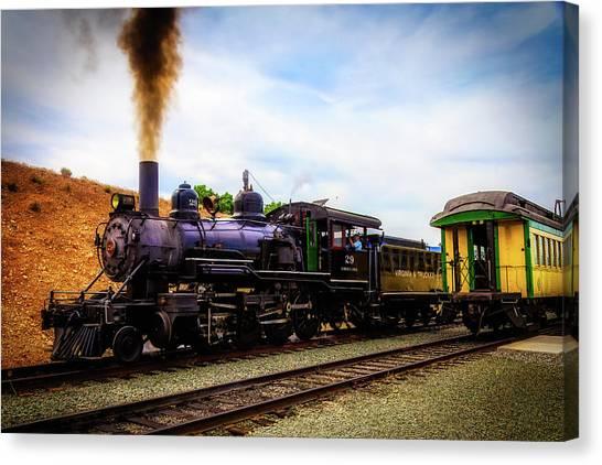 Steam Trains Canvas Print - Classic Virgina Truckee Steam Train by Garry Gay