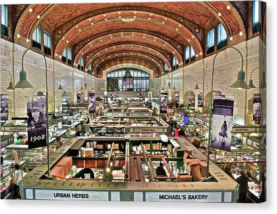 Lebron James Canvas Print - Classic Westside Market by Frozen in Time Fine Art Photography