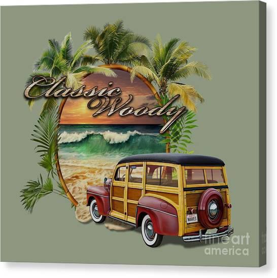 Classic Woody Canvas Print