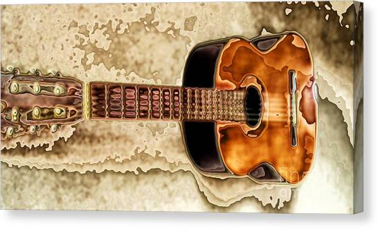 Classical Guitars Canvas Print - Classical-1 by Ron Bissett
