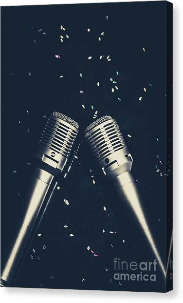 Microphones Canvas Print - Classical Duet by Jorgo Photography - Wall Art Gallery