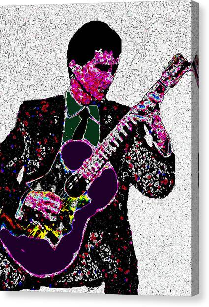 Classical Guitars Canvas Print - Classical Guitarist by May Finch