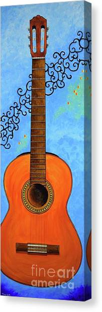 Canvas Print featuring the painting Classical Music by Mary Scott