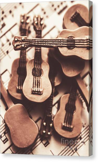 Classical Guitars Canvas Print - Classical Music Recording by Jorgo Photography - Wall Art Gallery