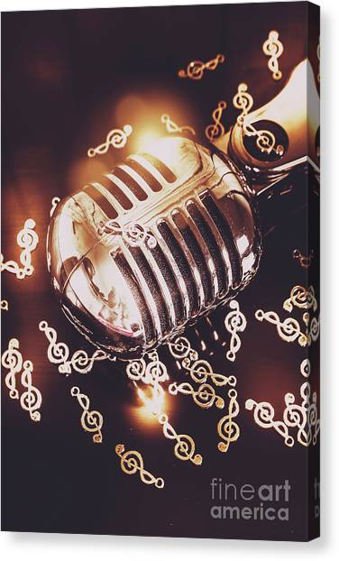 Microphones Canvas Print - Classics At The Audio Hall by Jorgo Photography - Wall Art Gallery
