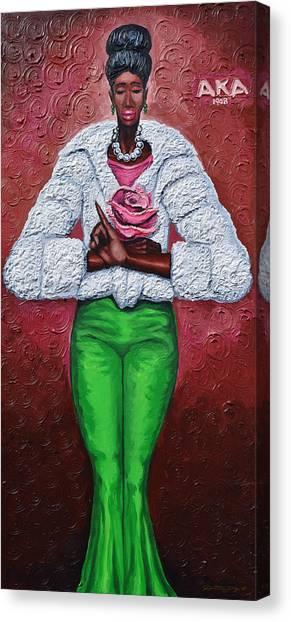 Alpha Kappa Alpha Canvas Print - Classy Lady Aka by The Art of DionJa'Y