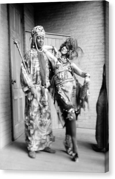 Dada Art Canvas Print - Claude Mckay And Baroness Von by Everett