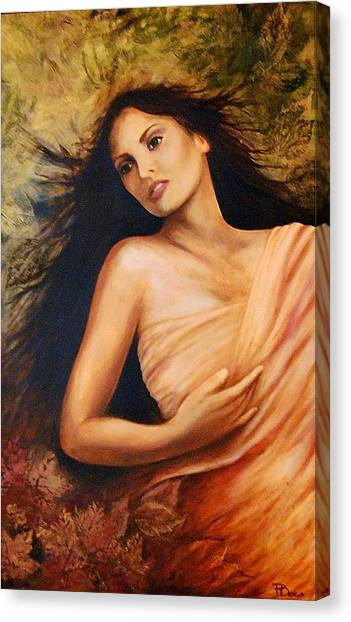Claudia Canvas Print by Patricia Ann Dees