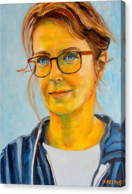 Claudia-portrait Canvas Print