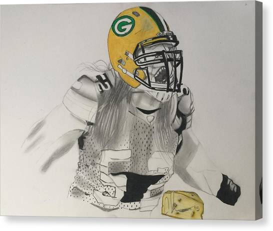 Clay Matthews Canvas Print - Clay Matthews by Christopher Wadsworth