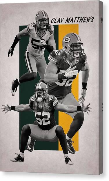 Clay Matthews Canvas Print - Clay Matthews Green Bay Packers by Joe Hamilton