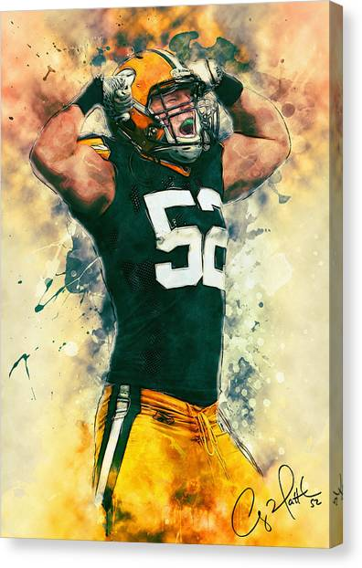 Linebackers Canvas Print - Clay Matthews by Zapista