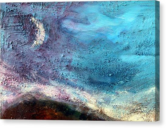 Clay Moon Canvas Print