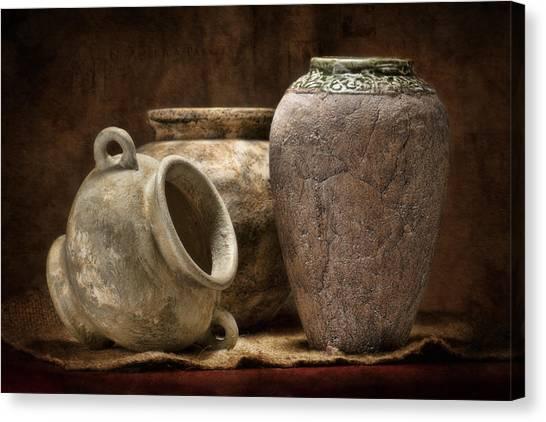 Clay Canvas Print - Clay Pottery II by Tom Mc Nemar