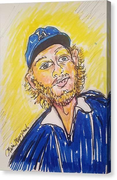 Los Angeles Chargers Canvas Print - Clayton Kershaw by Geraldine Myszenski