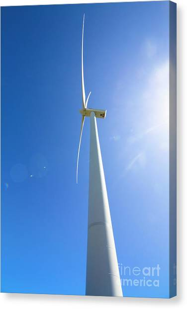 Wind Farms Canvas Print - Clean Blue Energy by Jorgo Photography - Wall Art Gallery